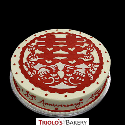 60th Anniversary Cake Design From Triolo S Bakery