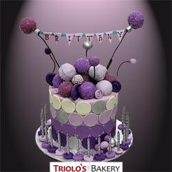 Banner Birthday Cake