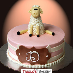 Little Lamb Birthday Cake from Triolo's Bakery