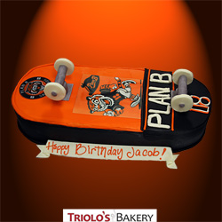Skateboard Birthday Cake