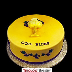 First Holy Communion Chalice Cake from Triolo's Bakery