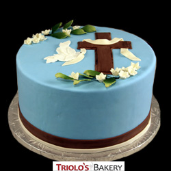 First Holy Communion Dove Cake from Triolo's Bakery