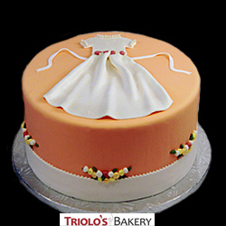 First Communion Dress Cake from Triolo's Bakery