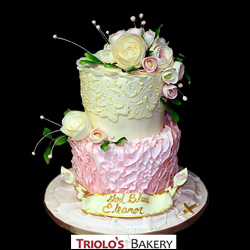 First Communion Lace Cake from Triolo's Bakery