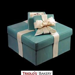 Tiffany Box Cake from Triolo's Bakery