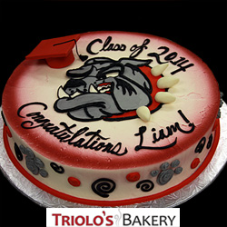 School Mascot Graduation Cake