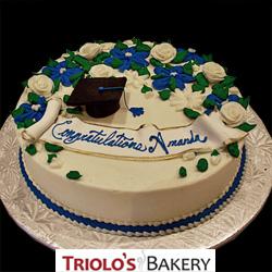 Floral Graduation Cake