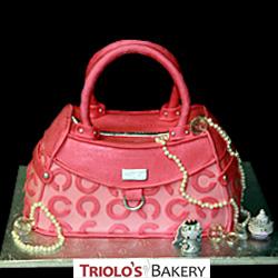 Pink Designer Handbag Cake from Triolo's Bakery
