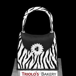 Zebra Print Designer Handbag Cake