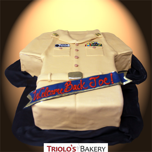 US Military Uniform Cake Cake from Triolo's Bakery