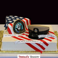 U.S. Navy Retirement Cake from Triolo's Bakery