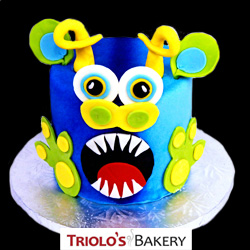 Blue Monster Cake from Triolo's Bakery