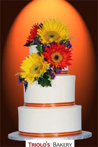 The Autumn Sunflower Wedding Cake - Triolo's Bakery