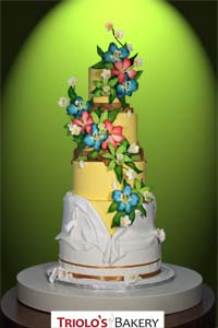 Breaking Tradition Wedding Cake - Triolo's Bakery