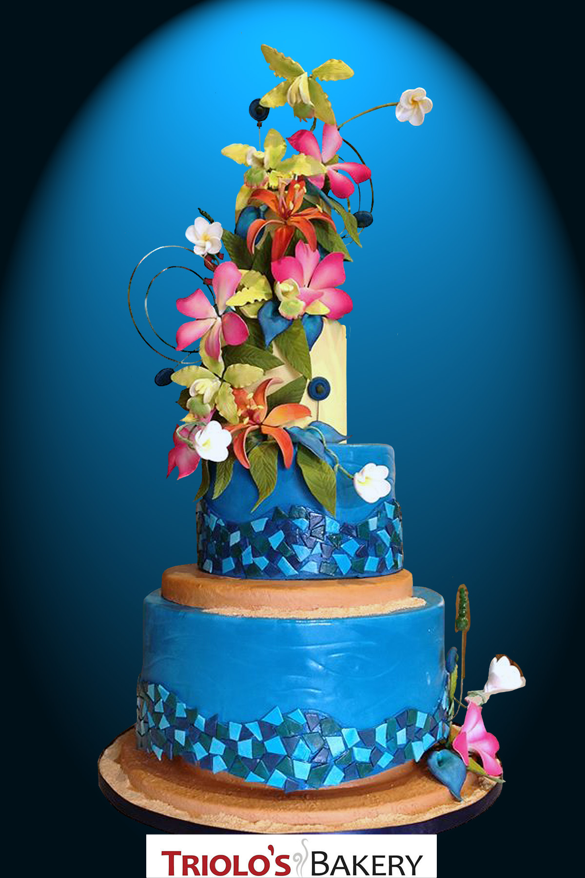 carribean wedding cake