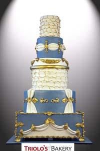 Elegant Theatre Wedding Cake - Triolo's Bakery