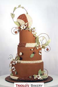 Herbs and Seeds Wedding Cake - Triolo's Bakery