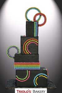 Rainbow Wedding Cake - Triolo's Bakery