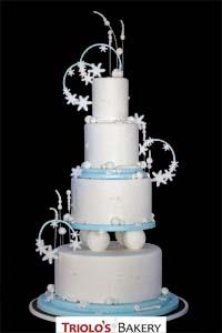 Winter Wonderland Wedding Cake - Triolo's Bakery