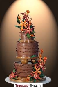 Autumn Inspired Wedding Cake - Triolo's Bakery