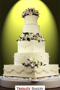Traditional Lace Wedding Cake - Triolo's Bakery