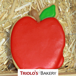 The Apple Shortbread Cookie Favor, perfect for teacher appreciation, Farm Stands, fall gift baskets and cookie bouqets.