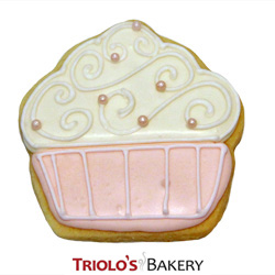 The Cupcake Cookie Favor, perfect for birthday, graduation, anniversary, promotion, or any kind of party.  Add to a gift basket, cookie bouqet, or send as a thank you.