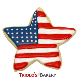 Send in a gift basket or cookie bouquet. The Flag Cookie Favor, perfect for 4th of July, veterans day, memorial day, and other patriotic celebrations.  Send in a gift basket or cookie bouquet.