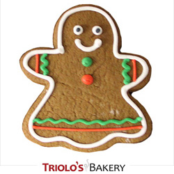 The Gingerbread Girl Cookie Favor, perfect for winter themed parties. Send in a gift basket or cookie bouquet.
