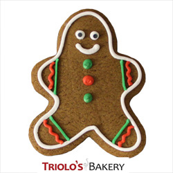 The Gingerbread Man Cookie Favor, perfect for winter themed parties. Send in a gift basket or cookie bouquet.