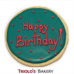 The Happy Birthday Cookie Favor Send In A Gift Basket Or Bouquet