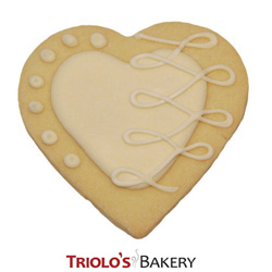 The Heart Cookie Favor, perfect for wedding favor, engagement party, valentine's day, bridal shower, and anniversary favor or gift.  Send in a gift baskett or cookie bouquet.