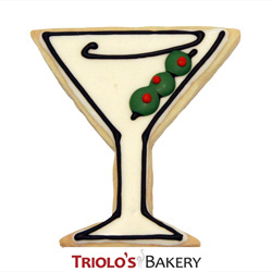 The Martini Cookie Favor, perfect for celebrating a weekend party, a promotion, or cocktail party. Send in a gift basket or cookie bouquet.