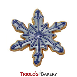 The Snowflake Cookie Favor, the perfect favor for Christmas in July, Winter Wonderland, Christmas, Sking, and other Winter related event. Send in a Gift Basket or Cookie Bouquet.