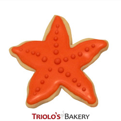 The Starfish Cookie Favor, perfect for beach party favor and shore themed parties. Send in a gift basket or cookie bouquet.