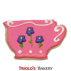 The Teacup Cookie Favor, perfect for tea party and garden party favors, in a gift basket or cookie bouquet.