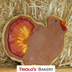 The Turkey Cookie Favor, perfect for fall themed gift baskets and cookie bouquets, or as a thanksgiving favor.