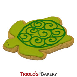 The Turtle Cookie Favor, a perfect fovor for birthday, and aquarium themed parties. Add to a gift basket or cookie bouquet.