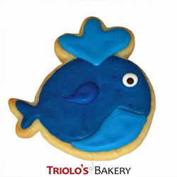 The Whale Cookie Favor, perfect for birthday party favors, beach party favors, and boating party favors. Send in a gift basket or bookie bouquet.