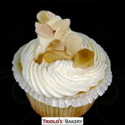 Almond Cupcake - Triolo's Bakery