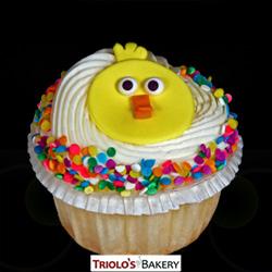 Chick Vanilla Cupcake - Triolo's Bakery