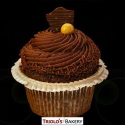 Chocolate Ganache Cupcake - Triolo's Bakery