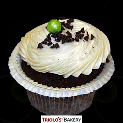 Chocolate Mint Cupcake - Triolo's Bakery
