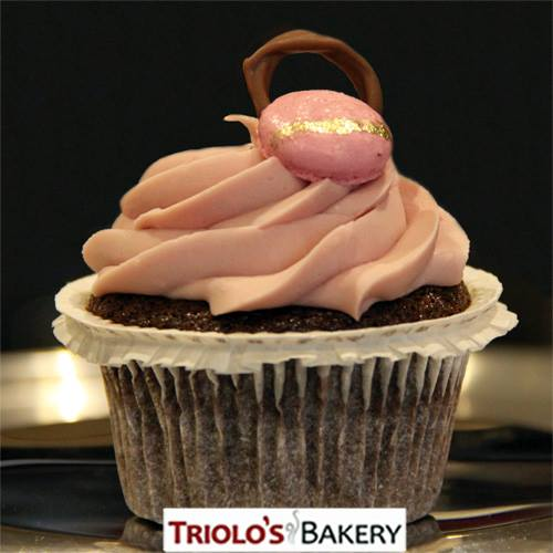 Chocolate Raspberry Port Wine Cupcake - Triolo's Bakery