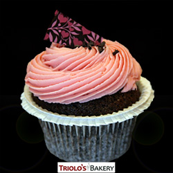 Chocolate Strawberry Cupcake - Triolo's Bakery