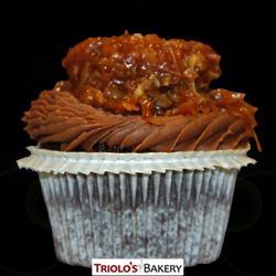 German Chocolate Gourmet Cupcake - Triolo's Bakery