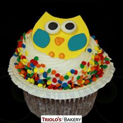 Owl Face Gourmet Cupcake - Triolo's Bakery