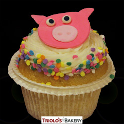 Pink Piglet Cupcakes - Triolo's Bakery