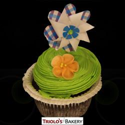 Pinwheel Gourmet Cupcake - Triolo's Bakery