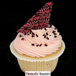 Strawberry Vanilla Cupcake - Triolo's Bakery